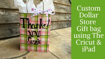 Custom Dollar Store Giftbag green